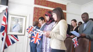 MUST SEE - UK British Citizenship Ceremony - Southwark Registary Office 2013