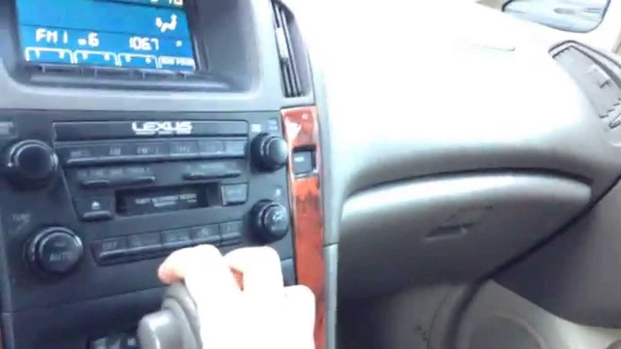 2001 Lexus Rx300 Interior Electronics Youtube