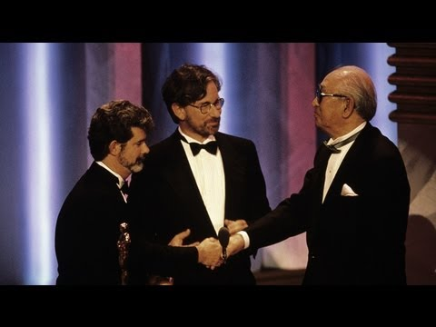 Akira Kurosawa receiving an Honorary Oscar®