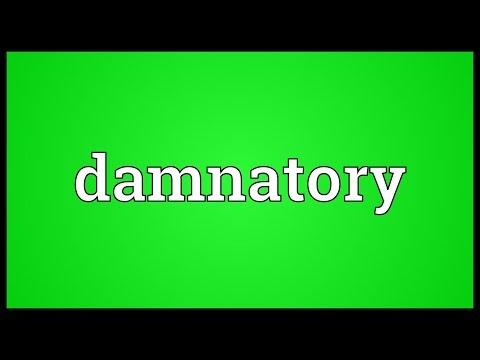 Header of damnatory