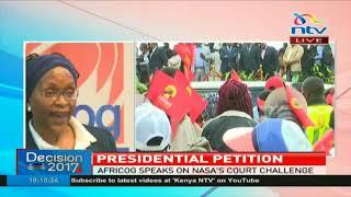 AfriCOG speaks on Nasa's petition challenging President Uhuru Kenyatta's election victory