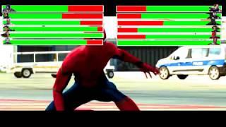 Captain America: Civil War - Airport Battle Scene Part 2 with healthbars