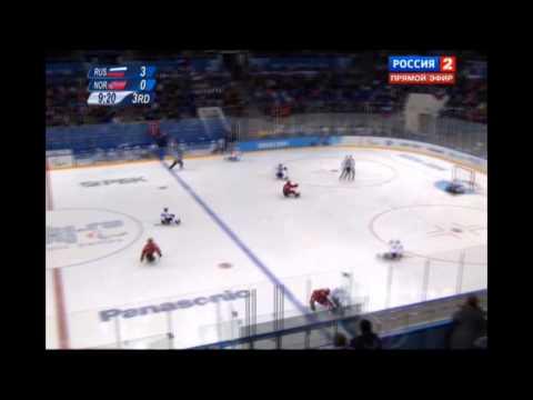 XI Зимние Паралимпийские игры. Следж-хоккей. 1/2 финала. Россия - Норвегия (3 Тайм)