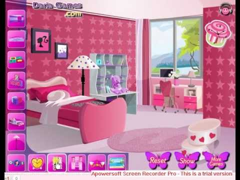 decorate barbie bedroom room decorating game for girls youtube