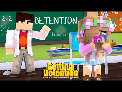 BABY LITTLE KELLY GETS DETENTION | Minecraft Little Kelly