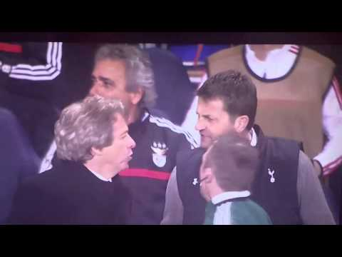 Tim Sherwood and Jorge Jesus - Touchline Bust Up!