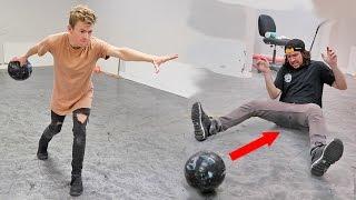 BOWLING BALL TRICK SHOTS CHALLENGE!