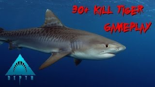 Depth |Gameplay| 30+ Kills Shark Game (Tiger)