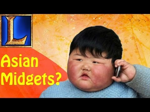 Asian Midget Ponr? (league Of Legends W  Friends) video