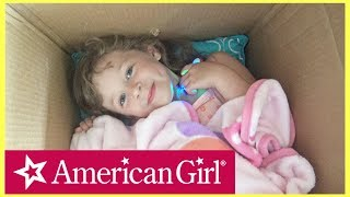 I Mailed Myself in a Box To American Girl IT WORKED! Sisters Pretend Play The Disney Toy Collector