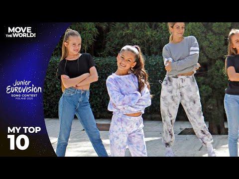 Junior Eurovision 2020 - Top 10 (so far)