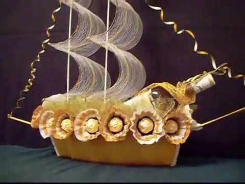 Пошаговая Инструкция Корабль Из Конфет - фото 6