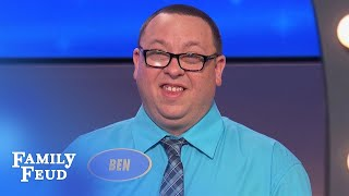 UNBELIEVABLE! Ben and Travis think men wear THIS to feel SEXY! | Family Feud