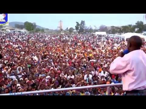 Pastor Josephat Gwajima Mega Crusade in Arusha. Multitude believed in Christ Jesus.