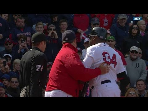 BAL@BOS: Ortiz gets thrown out of game for arguing