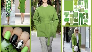 Pantone Color Of The Year 2017 - Greenery! Fashion Lookbook 2017