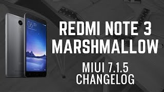 MIUI 7.1.5 Redmi Note 3 Marshmallow MIUI 8 CHANGELOG [ Jio VoLTE FIXED]