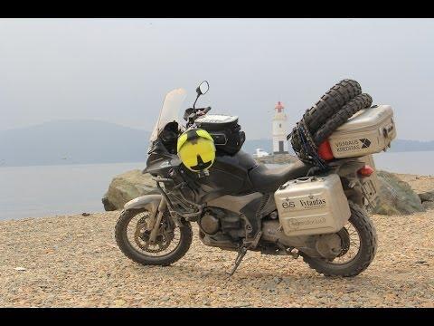 Lisbon - Vladivostok world record moto drive