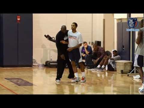 Michael Jordan Works out with Young Bobcats