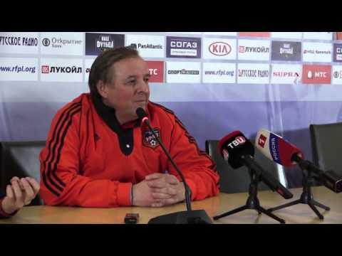Тарханов отвечает на вопросы Бубнова после матча Урал - Спартак