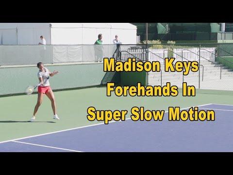 Madison Keys Forehand In Super Slow Motion - BNP Paribas Open 2013