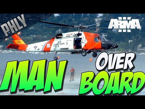 PILOT RESCUE - Man Overboard (Arma 3 Gameplay)