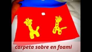 paso a paso de como hacer una carpeta de sobre en foami, step by step how to make a folder on foami