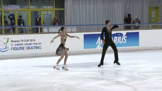 ISU 2014 Jr Grand Prix Aichi Short Dance Eva KHACHATURIAN / Andrei BAGIN RUS