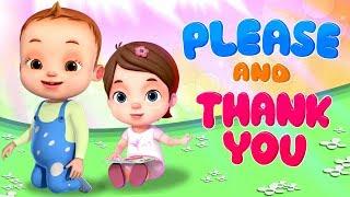 Please And Thankyou Song | Videogyan 3D Rhymes | Baby Ronnie Songs | Nursery Rhymes Kids Songs