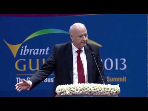 Freddy Svane Speech during Inauguration of Vibrant Gujarat Summit 2013
