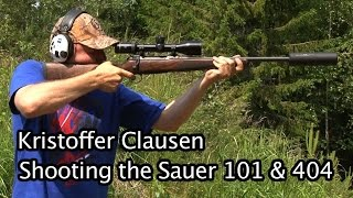 Kristoffer Clausen shooting Sauer 101 and 404 rifles.