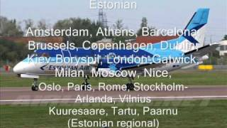 Tallinn airport airlines and destinations...
