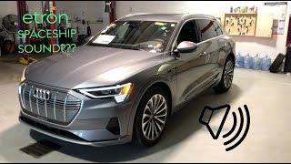 Audi e-tron Artificial Engine Sound!! (Sounds like a Spaceship?)