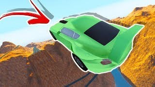 Which HYPER CAR Can Jump the Farthest Over the Grand Canyon? - BeamNG Drive Automation Mods