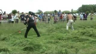 West Country Scythe Competition 2009 2: Scythe v Strimmer