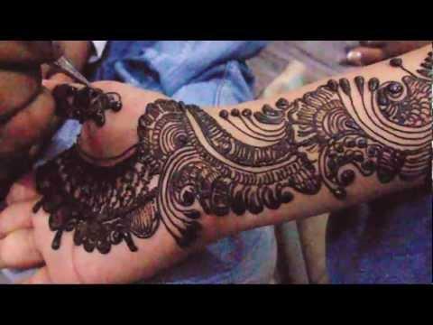 Full Hand Bridal Arabic Mehndi Design-How To Make Henna Mehndi Art Design For Hand