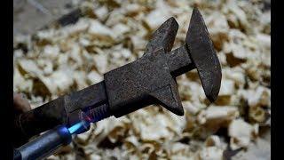 Old adjustable wrench restoration