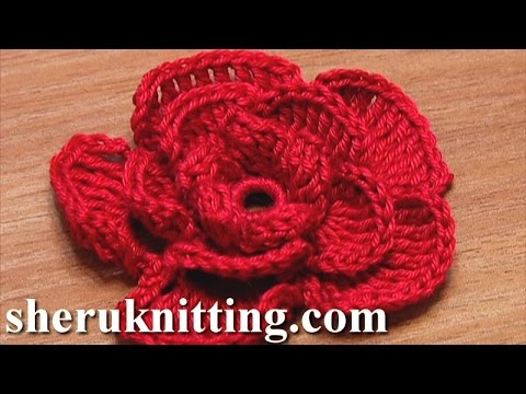 Crochet Flowers Patterns Youtube : Crochet Rose Flower Tutorial 20 ???????????? ...