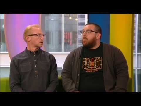 Simon Pegg Nick Frost BBC The One Show 2013