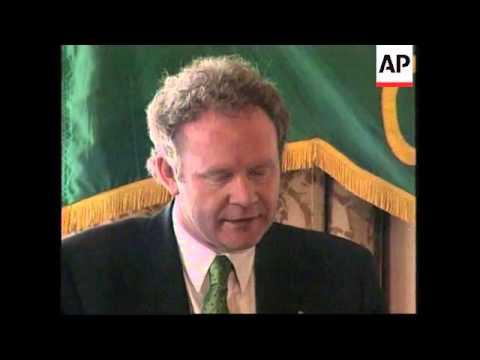 USA: WASHINGTON: SINN FEIN LEADER GERRY ADAMS VISIT