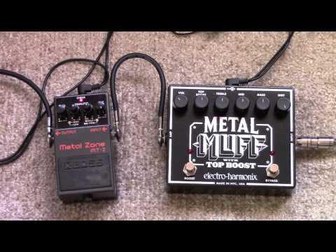 Electro Harmonix Metal Muff Vs Boss Metal Zone Distortion Pedal Shootout