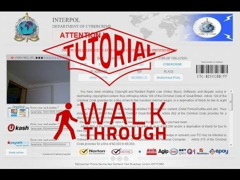 How To Remove The Interpol Department Of Cybercrime Virus The Easy Way