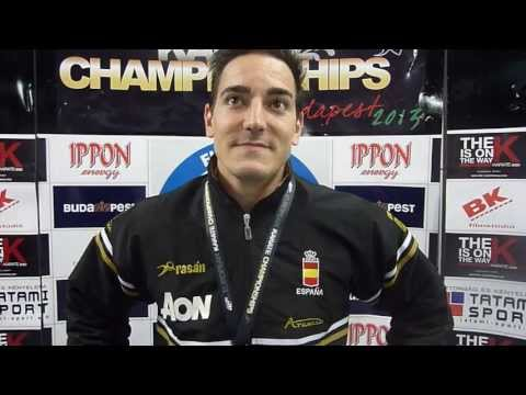 Interview Damian Quintero. Kata Individual Male European Champion. 48th Karate Championships