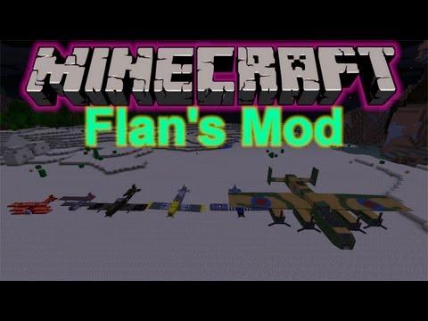 Minecraft 1.5.1 Flan's (Flugzeug) Mod Vorstellung - Review + Installation (Deutsch) [HD]