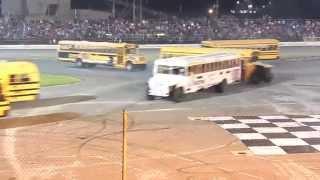 School Bus Figure 8 Race 5/24/14 Sportsdrome Speedway