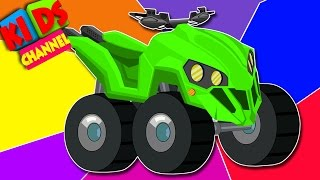 Quad bike   learn colors with vehicles   children's video