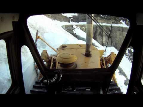Plowing near Triple Arches - Glacier National Park