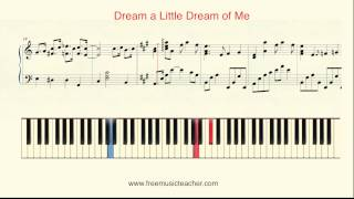 How To Play Piano Yiruma 34 Dream A Little Dream Of Me 34 Piano Tutorial By Ramin Yousefi