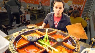 Chinese Street Food HOT POT HEAVEN + RABBIT Noodles and SPICY Dumplings in China - CHILI OIL 4 LIFE!