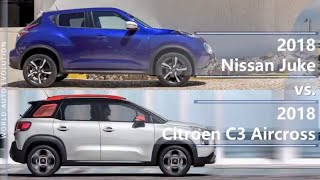 2018 Nissan Juke vs 2018 Citroen C3 Aircross (technical comparison)